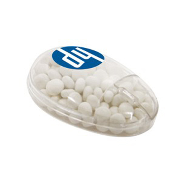 Personalized Computer Mouse Container / White Mints