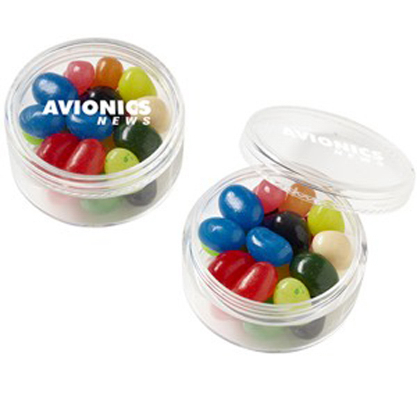 Imprinted Stackable Round Container / Gourmet Jelly Beans