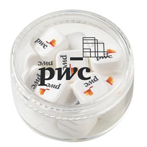 Customized Stackable Round Container / Printed Peppermints (Sugar Free)