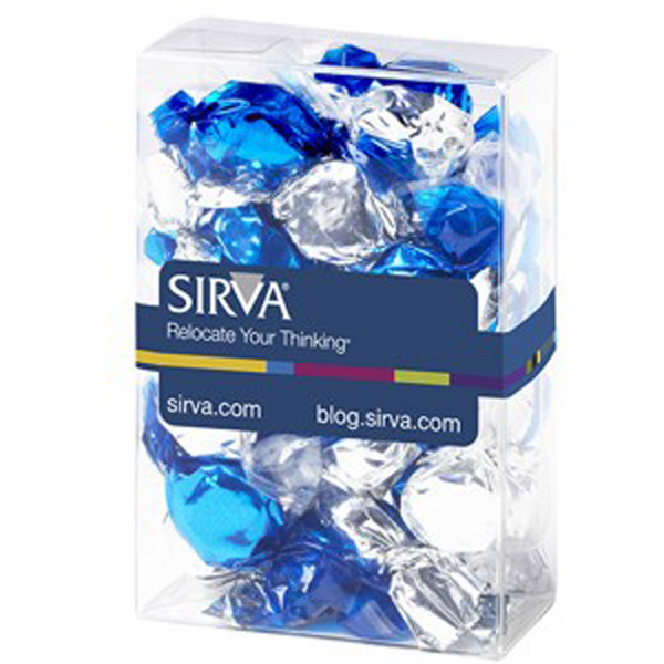 Printed Small Treat Box / Foil Wrapped Hard Candy