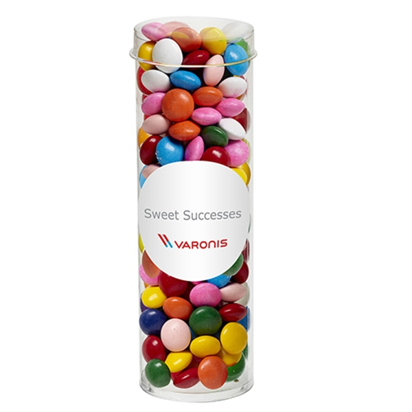 Printed Small Tube with Clear Cap / Chocolate Buttons