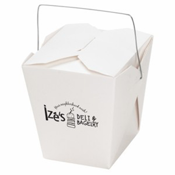 Custom Empty Carry Out Container; 1 Quart