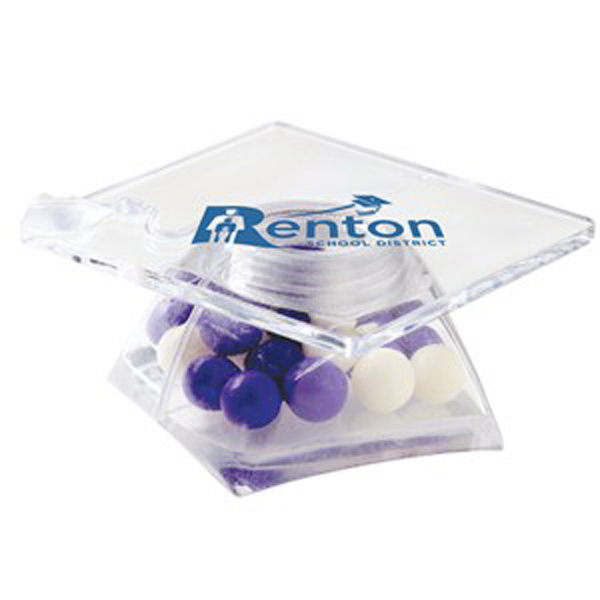 Promotional Graduation Cap Container / Fresh Gems Mints