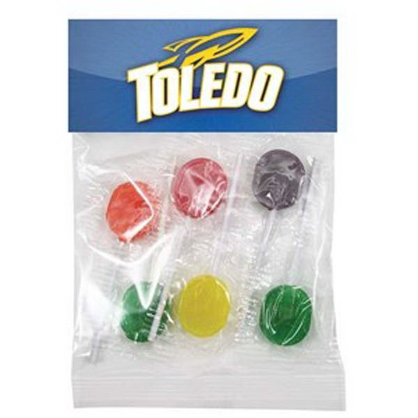 Printed Lollipops 6 piece (Choose Your Colors) / Header Bag