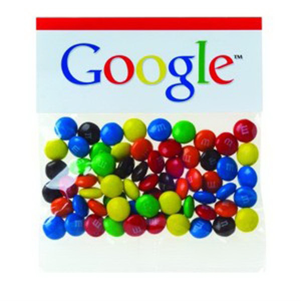 Promotional 2 oz Candy Coated Plain Chocolate Candies (R) / Header Bag