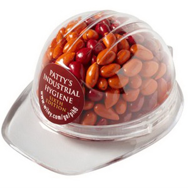 Personalized Hard hat Container / Chocolate Covered Sunflower Seeds