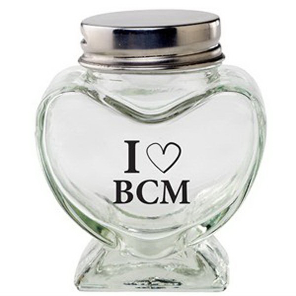 Promotional Glass Heart Jar / Empty