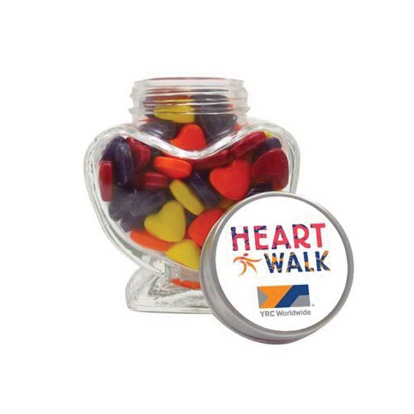 Custom Glass Heart Jar / Crazy Hearts