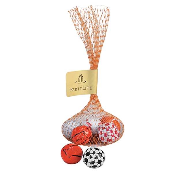 Promotional Mesh Bag with 5 Chocolate Balls