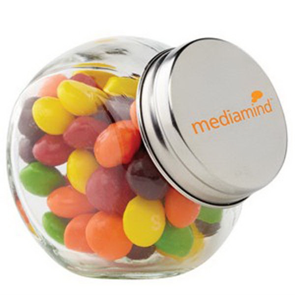 Customized Glass Canister Jar / Skittles (R)