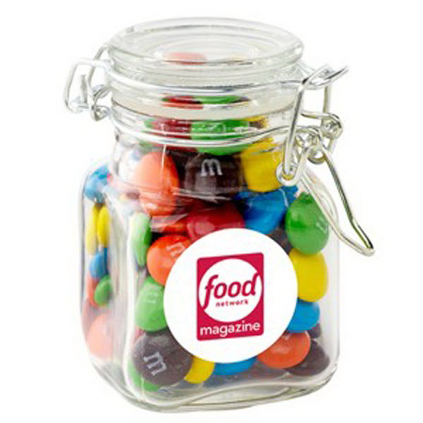 Printed Glass Hinge Top Jar / Chocolate Covered Candies