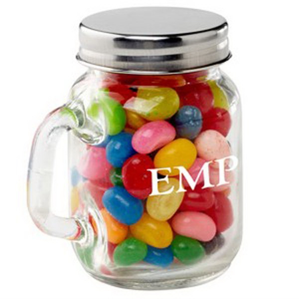 Customized Glass Mason Jar / Gourmet Jelly Beans