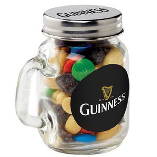 Personalized Glass Mason Jar / Party Mix
