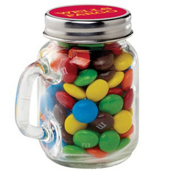 Printed Glass Mason Jar / Chocolate Covered Candies