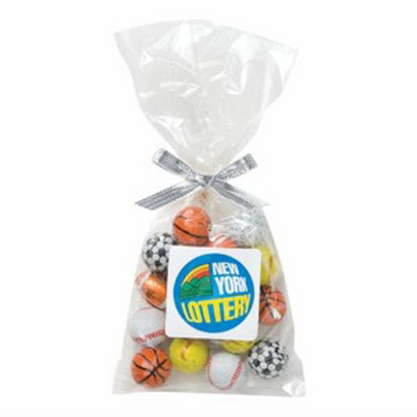 Imprinted Mug Stuffer Bag / Chocolate Balls (4 oz)