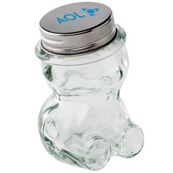 Custom Glass Teddy Bear Jar / Empty
