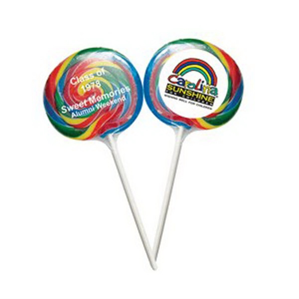 Printed Swirl Lollipop Shrink Wrapped