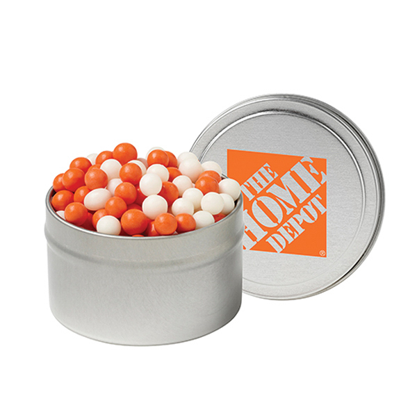 Promotional 1/8 Quart Round Tin / Fresh Gems - Mints