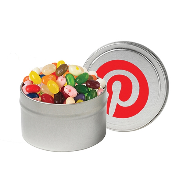 Customized Large Round Tin / Gourmet Jelly Beans
