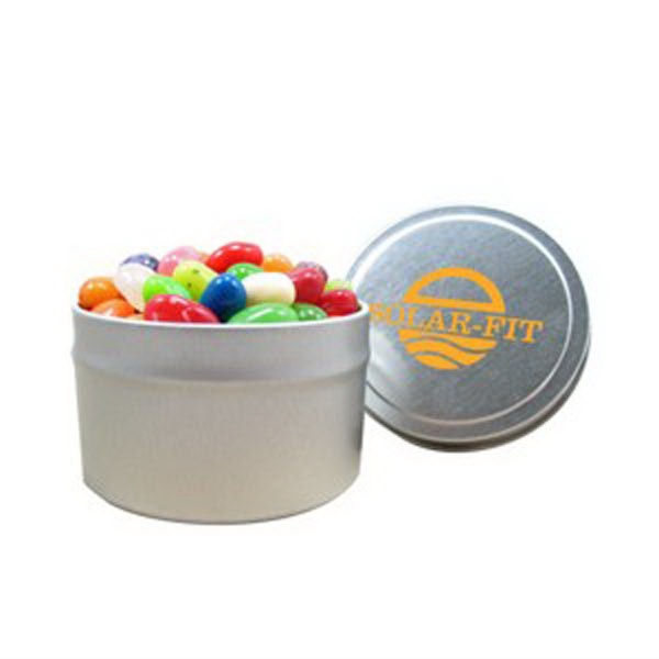Personalized 1/8 Quart Round Tin / Jelly Belly (R) Jelly Beans