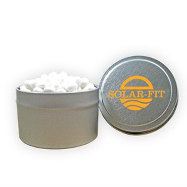 Custom 1/8 Quart Round Tin / White Mints