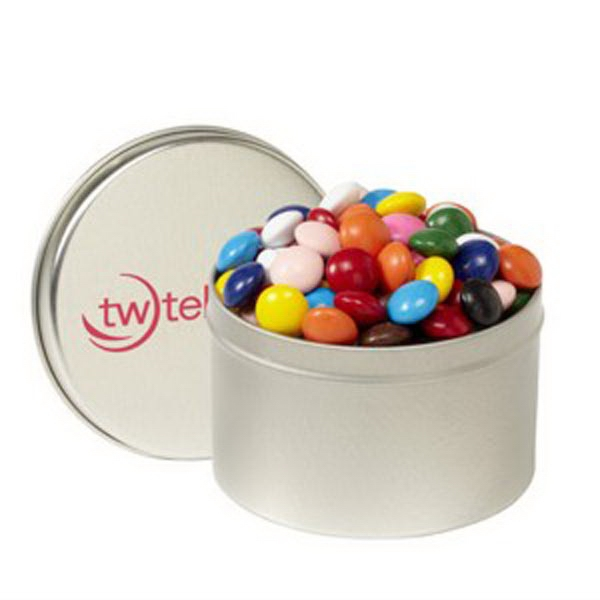 Printed 1/4 Quart Round Tin / Chocolate Buttons