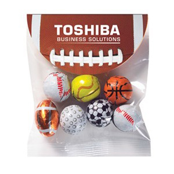 Personalized Header Bag with Round Top / Chocolate Sport Balls