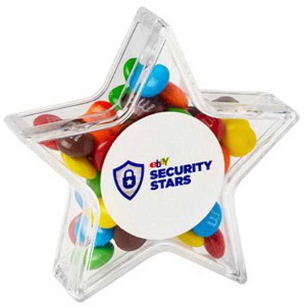 Custom Star Container /Chocolate Covered Candies