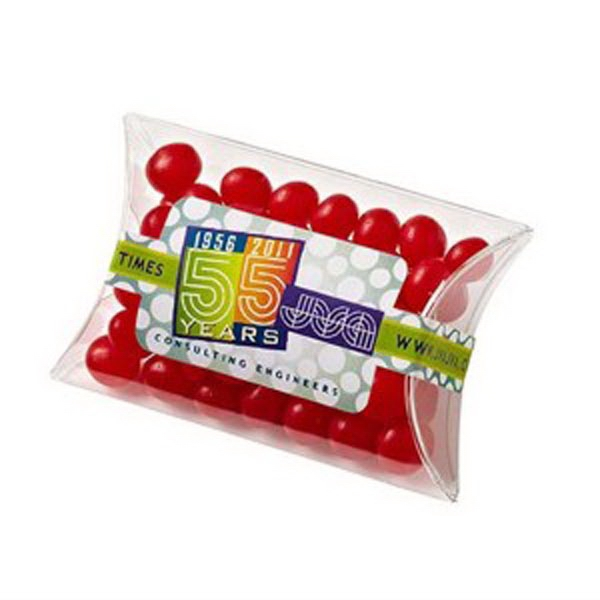 Imprinted Pillow Case Candy Container / Red Hots (R)