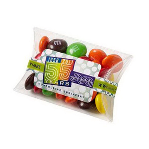 Promotional Pillow Case Candy Container / Candy Coated Chocolate