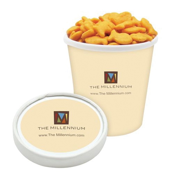 Customized Pint Size Snack Tub / Goldfish (R) Crackers