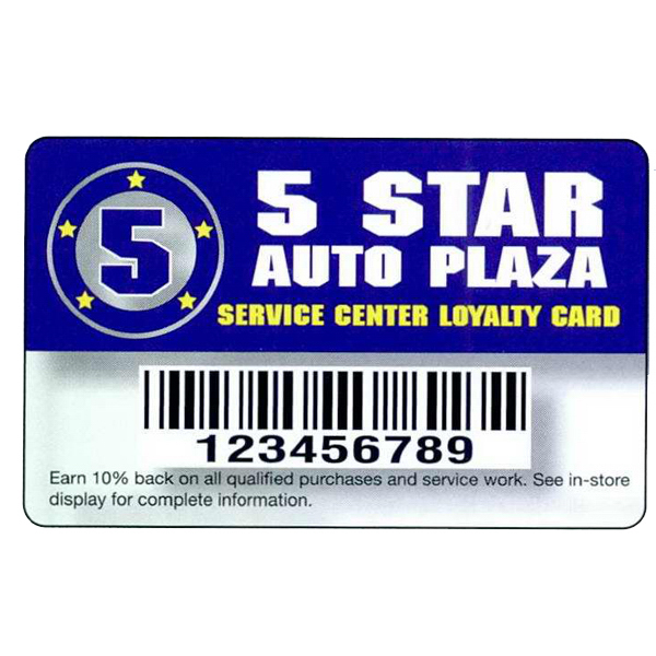 Customized Deluxe Loyalty Card