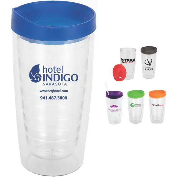 Imprinted Trevi 16 oz. Double Wall, Acrylic Tumbler