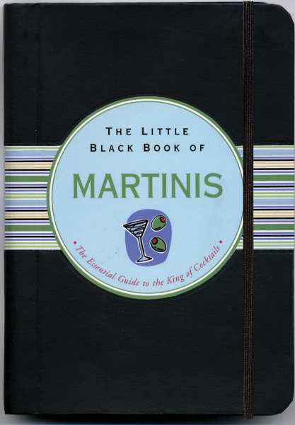 Imprinted Little Black Book of Martinis