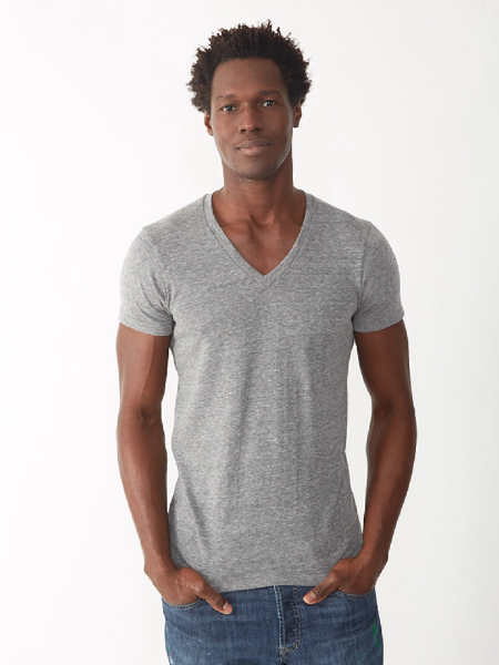 Imprinted Unisex Boss V-Neck Tee