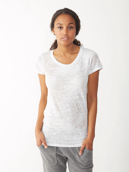Customized Women's Perfect Fit Burnout Crew