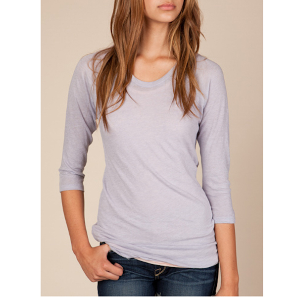 Imprinted Women's Gauze Baseball Tee