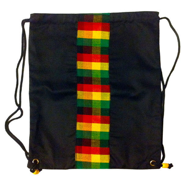 Printed Rasta Cinch Bag