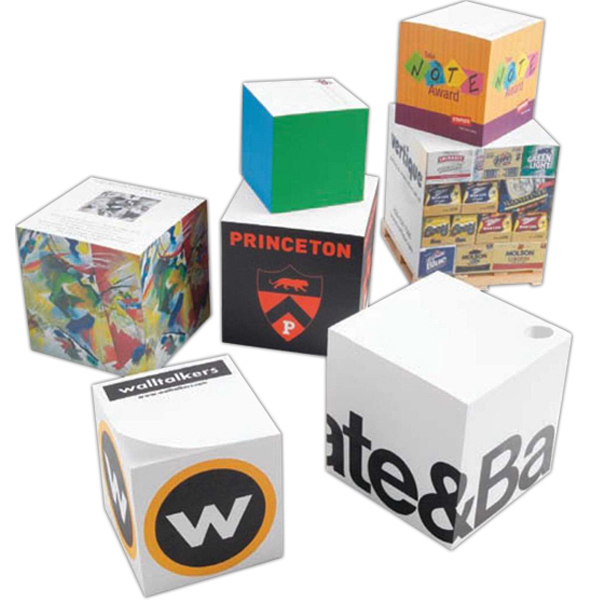Promotional Non-Adhesive Note Cube (R) - Full Size