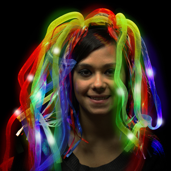 Printed Rainbow L.E.D. Diva Dreads (TM)