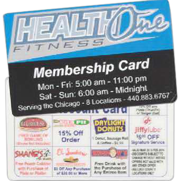 Printed Standard Laminated Membership Card