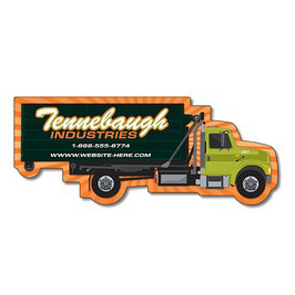 "Imprinted Magnet, Trash/Recycle Truck Shape, 5"" x 2.0625"", 20 mil"