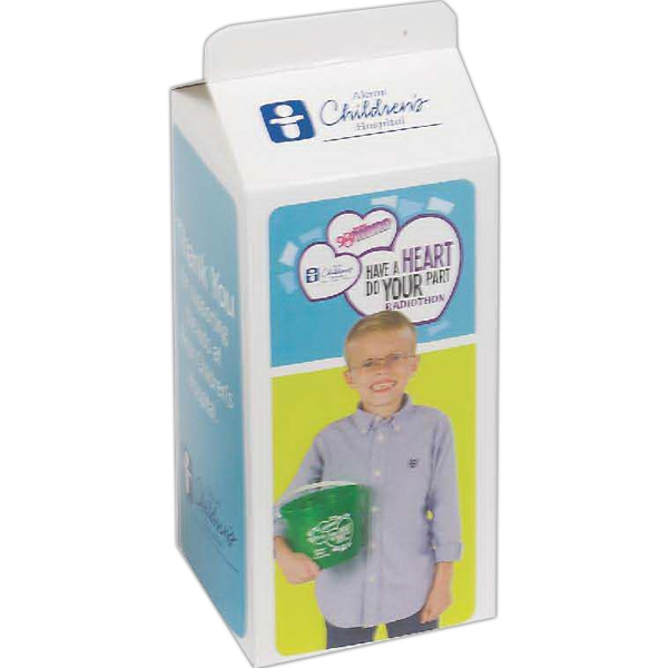 Imprinted Milk Carton Bank