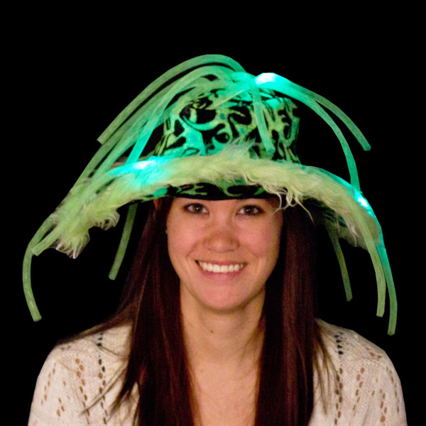 Custom Green Light Up LED Show Daddy Hat