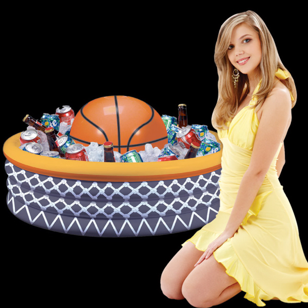Promotional Inflatable Basketball Fan Cooler