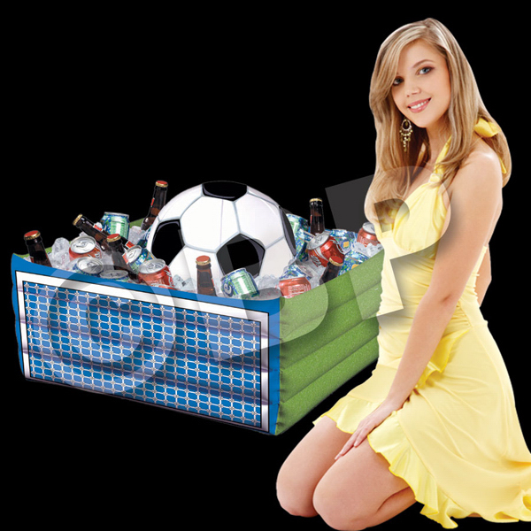 Imprinted Inflatable Soccer Fan Cooler