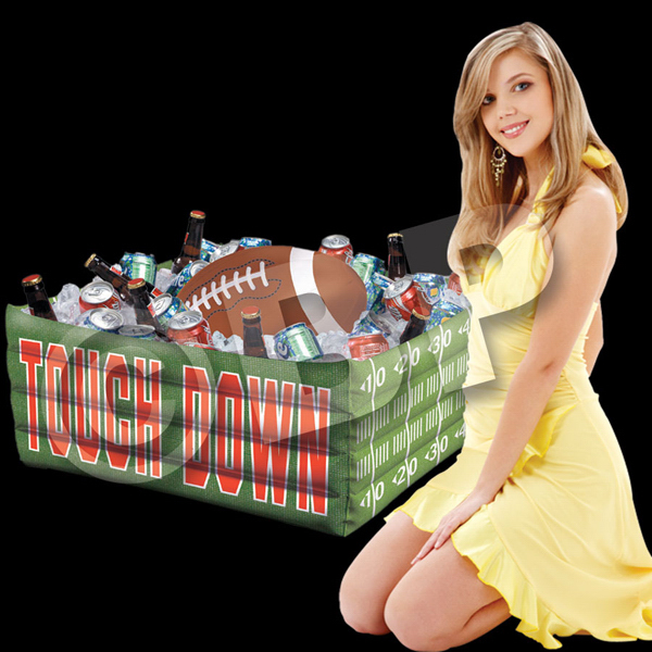 Personalized Inflatable Football Fan Cooler