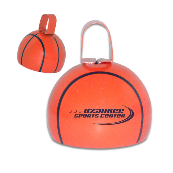 "Imprinted 4"" Basketball Cowbell"