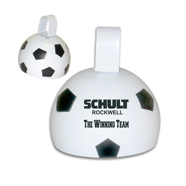 "Personalized 4"" Soccer Ball Cowbell"