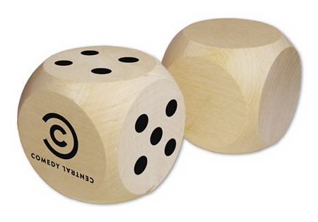 "Imprinted Jumbo 2.5"" Custom Round Corner Dice"